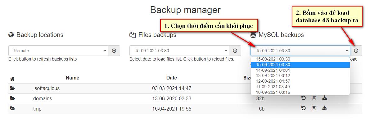 Backup Manager 5
