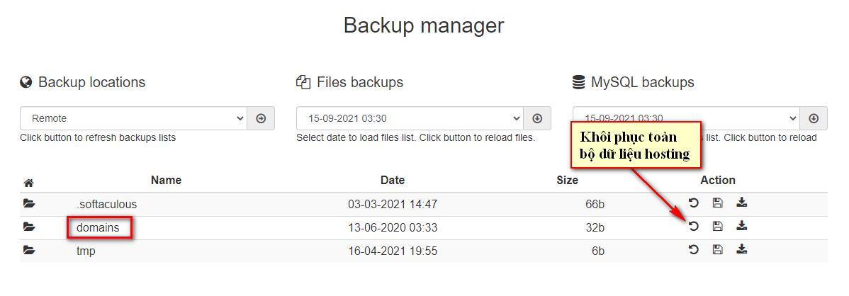 Backup Manager 7