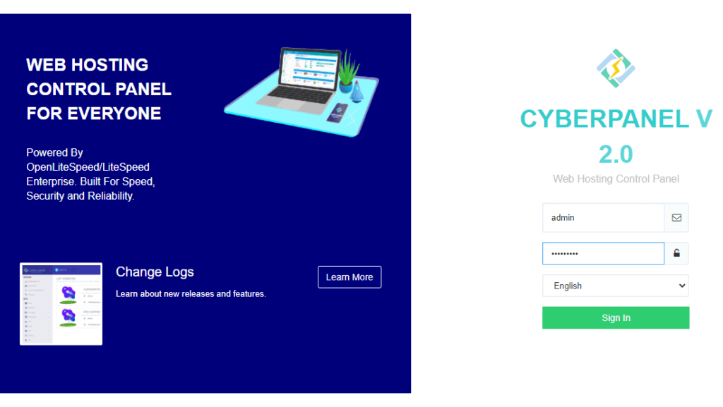 Install cyber panel 3