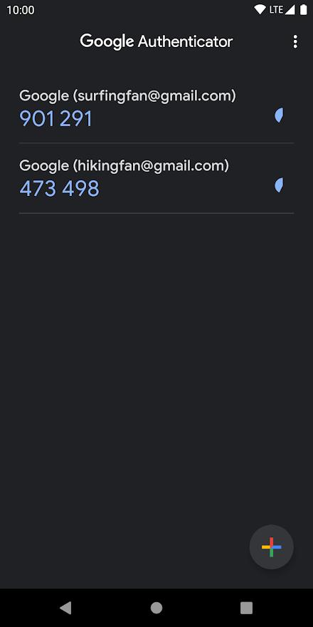 google authenticator 6