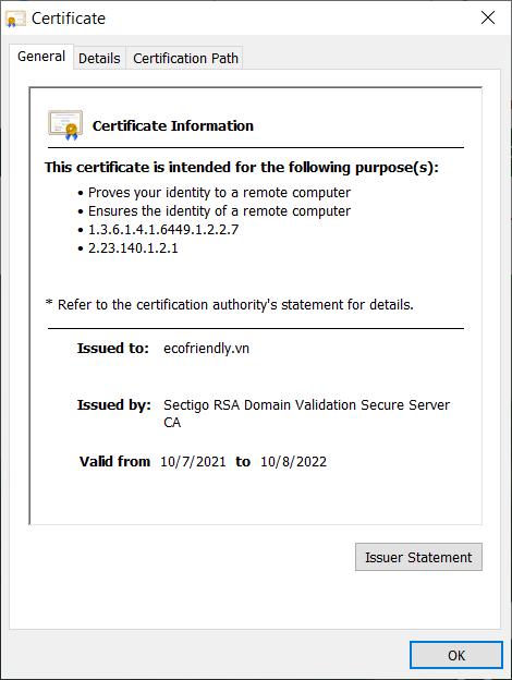 kiem tra chung chi SSL 2